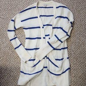 Cream with blue stripes cardigan